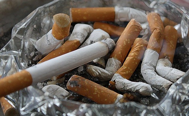 butts of cigarettes
